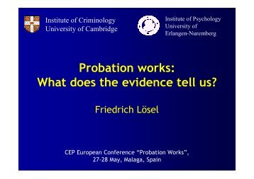 What does the evidence tell us? - CEP, the European Organisation ...