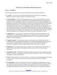 403(b) Plan Document - Salt Lake City School District