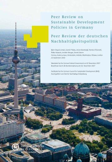 Peer Review der deutschen Nachhaltigkeitspolitik Peer Review on ...