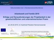 Präsentation der teilnehmenden Projekte - LASA Brandenburg GmbH