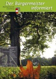 Der Bürgermeister informiert, Folge 5, September 2005 - in Laxenburg