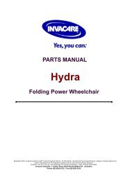 PARTS MANUAL Folding Power Wheelchair - Invacare