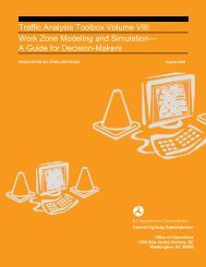Traffic Analysis Toolbox Volume VIII: Work Zone Modeling and ...