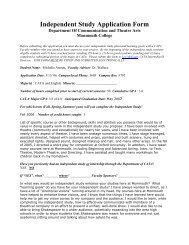 sample Independent Study Application form - Monmouth College