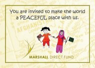 You are invited to make the world a PEACEFUL place with us.