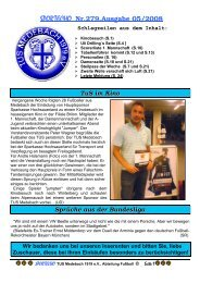 SPORTECHO Nr.279,Ausgabe 05/2008 - TuS-Medebach