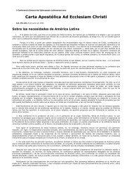 Carta Apostólica Ad Ecclesiam Christi - pedrogoyena.edu.ar