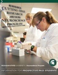 Information Packet - Neuroscience Program - Michigan State ...