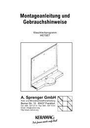 Montageanleitung Waschtischmodell WETSET - Varicor