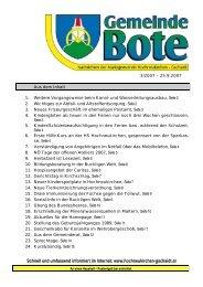 Gemeindebote 3/2007 (0 bytes) - Marktgemeinde Hochneukirchen ...