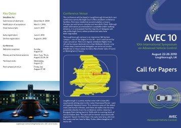 AVEC 10 CFP.pdf - Loughborough University