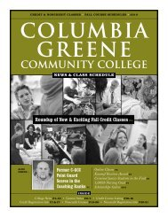 Fall 2010 News & Class Schedule - Columbia-Greene Community ...