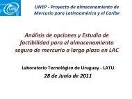 Almacenamiento de mercurio en ALC - Centro Coordinador de ...