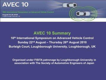 AVEC 10 Summary - Loughborough University