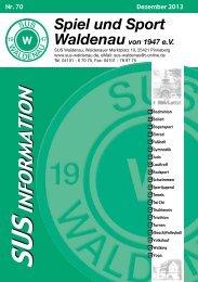 Die aktuelle SuS-Information 70 herunterladen (4 MB)