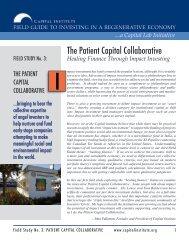 The Patient Capital Collaborative - Capital Institute