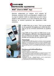 MSB Client et MSB App - ICS Identcode Systeme AG