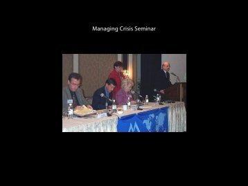 Managing Crisis Seminar - Duane Morris LLP