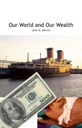 Our World and Our Wealth | PDF - El Cristianismo Primitivo