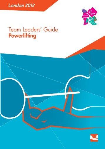 London 2012 Team Leaders' Guide Powerlifting