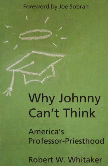 why-johnny-cant-think-robert-w-whitaker