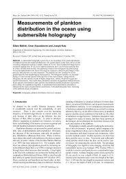 Measurements of plankton distribution in the ocean using ...