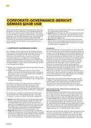 CORPORATE-GOVERNANCE-BERICHT Gemäss §243B ugb
