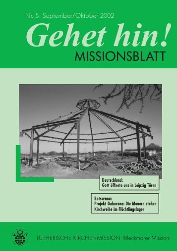Missionblatt 05/2002 - Lutherische Kirchenmission Bleckmar