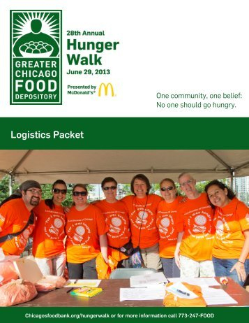 2013 Hunger Walk Logistics Packet - Greater Chicago Food ...