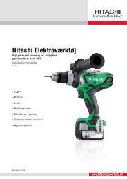 Hitachi Elektroværktøj - Hitachi Power Tools Finland Oy