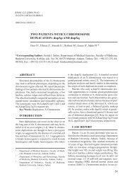 TWO PATIENTS WITH X CHROMOSOME DUPLICATION: dupXp ...