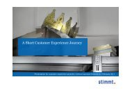 A Short Customer Experience Journey - Customer Experiences That ...