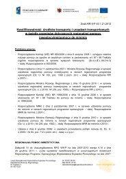 Kwalifikowalność środków transportu i urządzeń ... - mojregion.eu