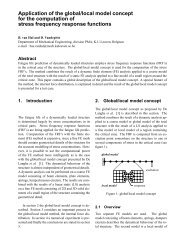 Application of the global/local model concept for the computation of ...