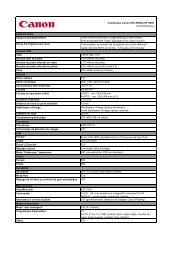 Télécharger LEGRIA HF S200 - La fiche des caractéristiques - Canon