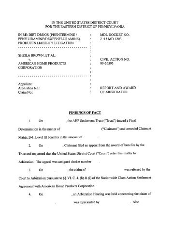 Interim Settlement Pack Form and Response to Interim Settlement ...