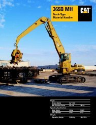 Specalog for 365B MH Track-Type Material Handler ... - Kelly Tractor