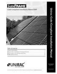 Unirac Code-Compliant Installation Man ual - BatteriesInAFlash.com
