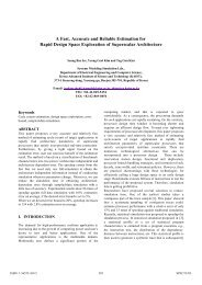 A Fast, Accurate and Reliable Estimation for Rapid Design Space ...
