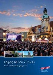 Broschüre ''Leipzig Reisen 2012/13' - Stadt Leipzig
