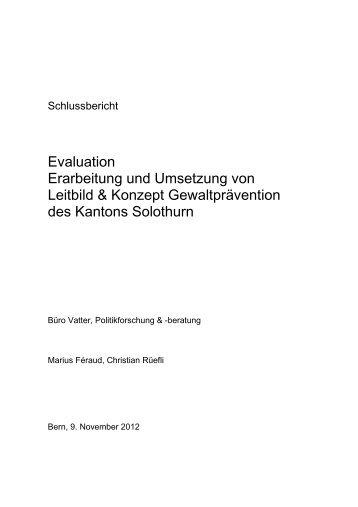 Evaluation Erarbeitung und Umsetzung von Leitbild & Konzept ...