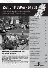 ZukunftsWerkStadt Ausgabe Mai 2011 - Stadt Leinefelde Worbis