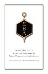 SIGMA BETA DELTA International Honor Society for ... - CSI Today