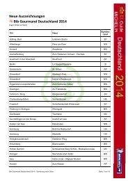 Bib Gourmand Deutschland 2014 - Sternefresser