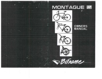 Download Archive Montague Owner's Manual for Bi-Frame.