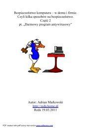 Bezpieczeństwo komputera – w domu i firmie. Czyli ... - INFORMACJA