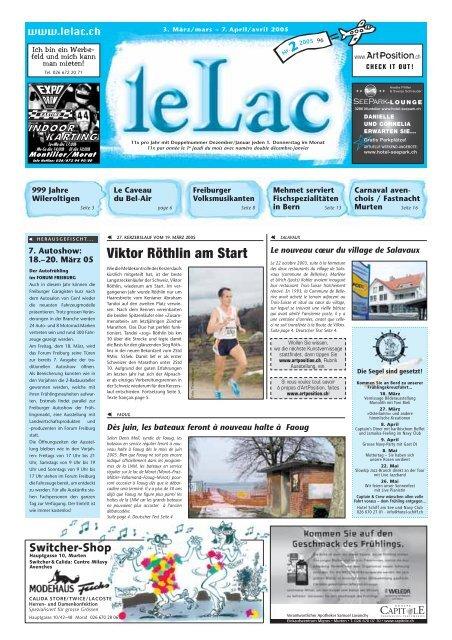 Viktor Röthlin am Start - Zeitung Le Lac, Murten