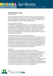 Akkerbouw: inkomens hoger Ruud van der Meer Structuur van - Lei