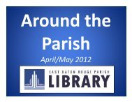 Around the Parish, April and May in 90 seconds, more or less