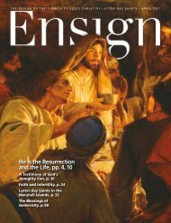 April 2011 Ensign - The Church of Jesus Christ  of Latter-day Saints